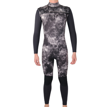 Seaskin Mens 3/2mm Chest Zip Wetsuit For Surfing