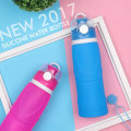 Easy-to-use insulated silicone water bottle