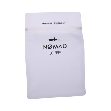 Recyclable Custom Printed Quad Seal Coffee Bag With Valves