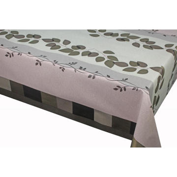 Pvc Printed fitted table covers Jute Table