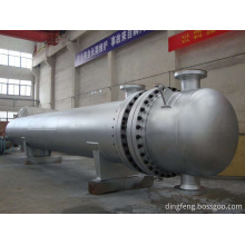 Shell and tube heat exchanger for heat transfer
