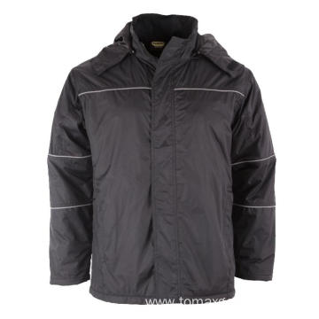 Black 100% Nylon Winter Jacket