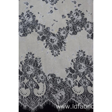 Nylon Cotton Panel Cord Lace Fabric