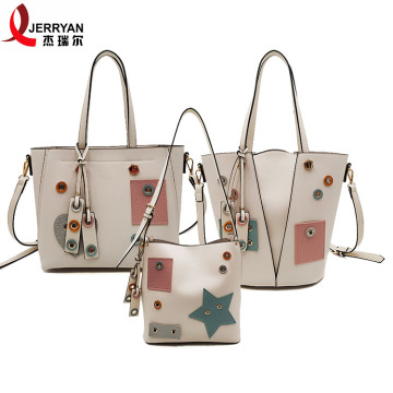 White Leather Womens Beach Bags Purse with Price