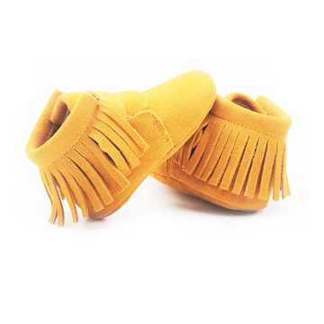 Orange Infant Moccasin Shoes