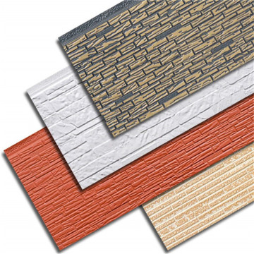 Decorative metal insulation pu foam sandwich panels