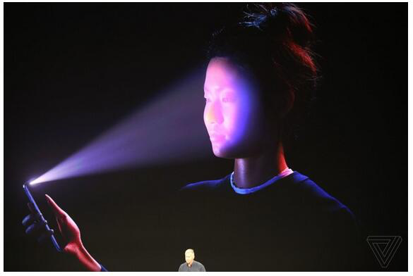 Infrared LED face recognition