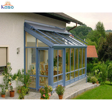 Prefab Aluminum Frame Balcony Roof Glass Sunroom Design