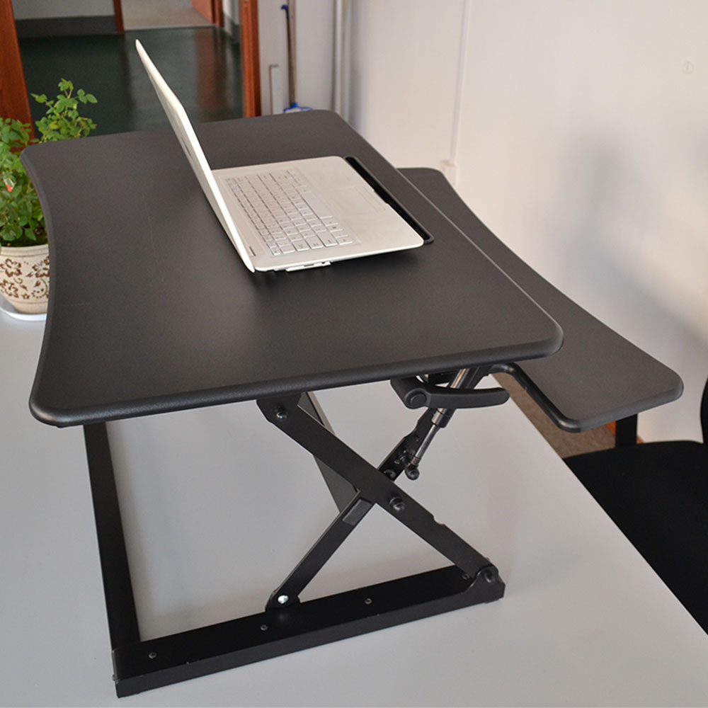 Custom Standing Computer Office Desk With Keyboard Tray