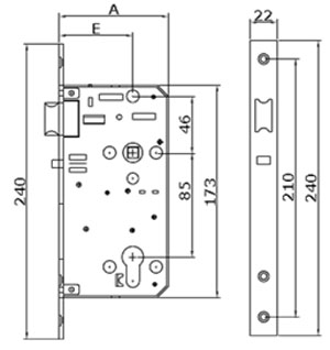 Immediate egress mortise lock with latch bolt