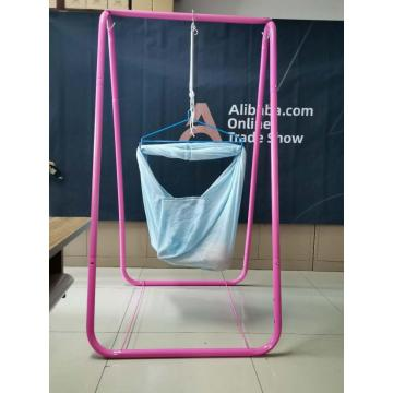 Baby polyesternet hammock with steel holder