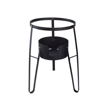 Single burner camping cook stand with round cover