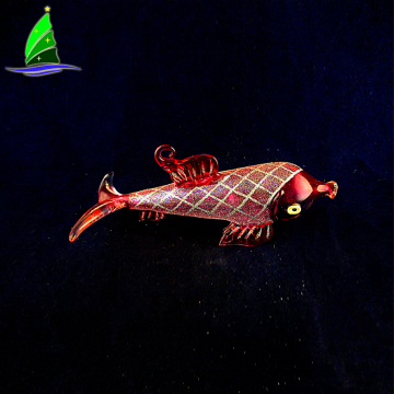 fashionable Christmas glass fish hanging ornaments