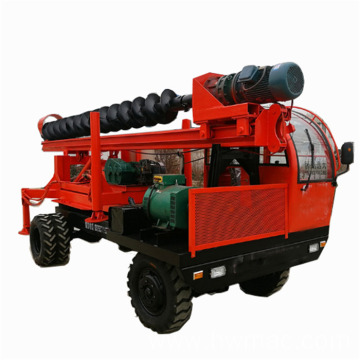 6M truck mounted rotary pile driver machine