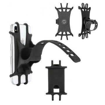 Universal 360-degree rotatable stroller trolley mobile phone holder for stroller accessories