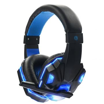 LED USB Stereo Headphone Permainan Alat dengar PS4