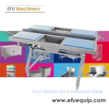 Four Station Food Selecting Table