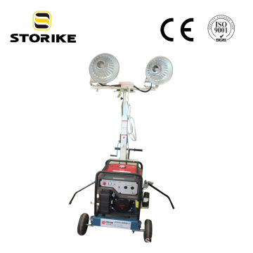 Trolley Mast Honda Genset Construction Light Tower