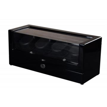 black safe watch winder box