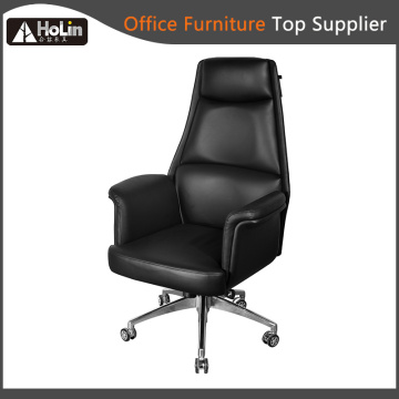 High Back Revolving Elevating PU Leather Office Chair