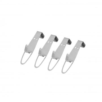 set/4 stainless steel door hook