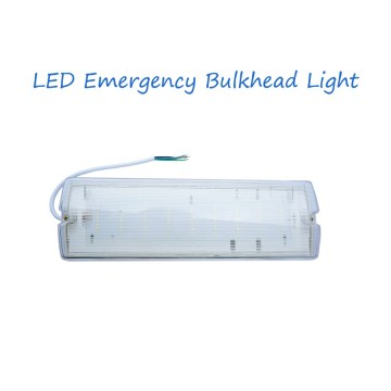 8W Wall Mounted Emergency Bulkhead Light