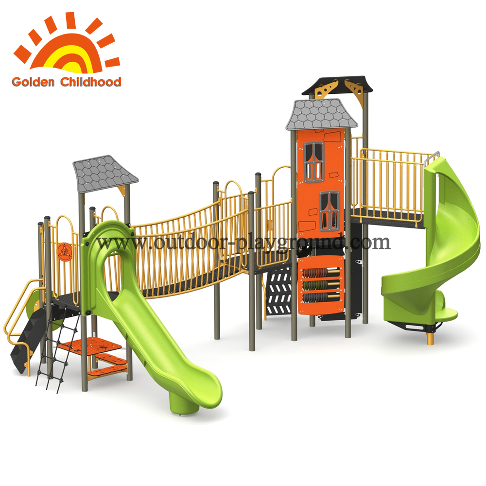 Maple Leaves Style Outdoor Playground Equipment