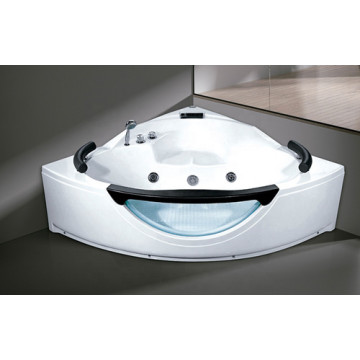 Acrylic Transparent Whirlpool Corner Massage Bathtubs