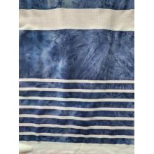 Poly Rayon Auto Stripe With Tie-Dye