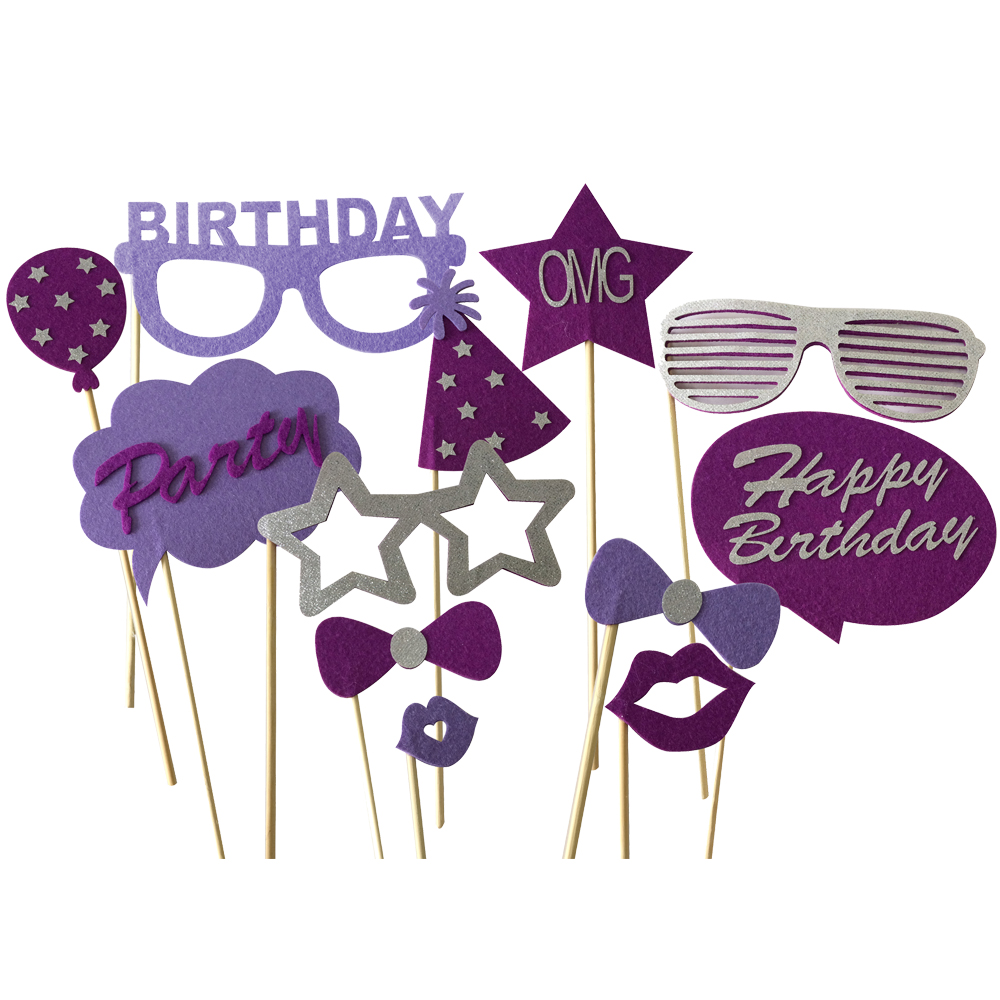 Purple Party Photo Booth Props