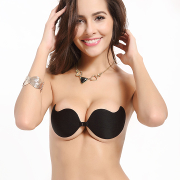 Push Up Sticky Cups Mango Cloth Silicone Bra