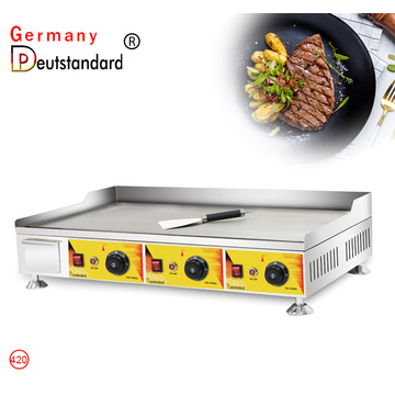electric 3 head griddle flat griddle