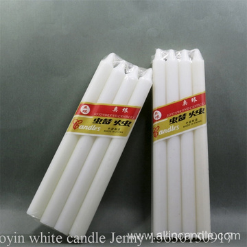 19cm white wax candle wholesale to Guinea-Bissau