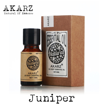 AKARZ Famous brand natural juniper Essential Oil Treatment of acne Skin inflammation and convergence pores juniper Oil