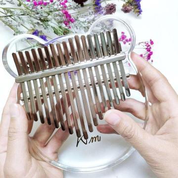 Kimi Kalimba Acrylic 17 Key Transparent Thumb Piano Mbira Sanza with Tuner Hammer Gig Kalimba Musical Instrument Christmas Gift