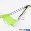 New 2in1 clever Silicone smart kitchen food tong