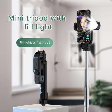3 in 1 Bluetooth Wireless Selfie Stick Tripod With Fill Light Live Bluetooth Remote Control Selfie Stick For Xiaomi Huawei Phone