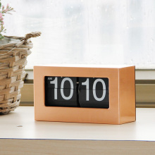 Gold Table Box Retro Flip Clock