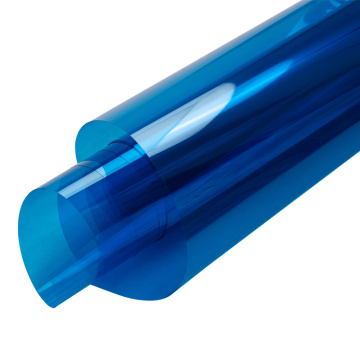 blue transparent release PET film