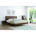 Chumba cha kulala cha Brown Flat Rubber Wood Headboard