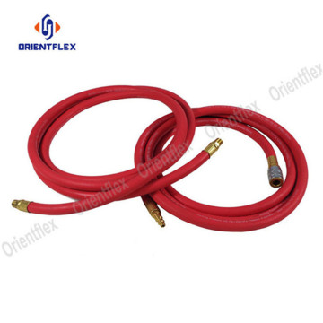 Smooth black  braided hose air compressor