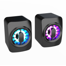 USB Wired Computer Speaker Colorful LED Light Stereo Subwoofer Bass Speaker Surround Sound Box For PC Laptop Phone Tablet MP4