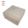 small wooden jewelry box pure color handcrafted collectibles gift