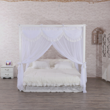 Lace Square Bed Canopy Elegant White Mosquito Nets