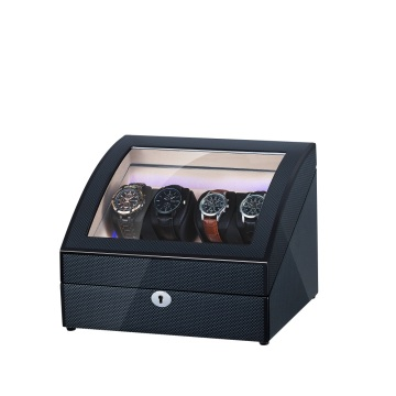 Curved Black Wooden Watch Winder