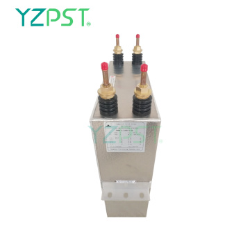 4.4KV High reliability 600Hz water cooled capacitor capacity