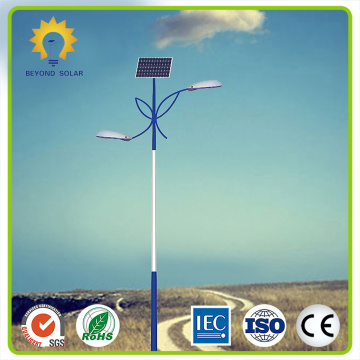 100W solar street light with pole