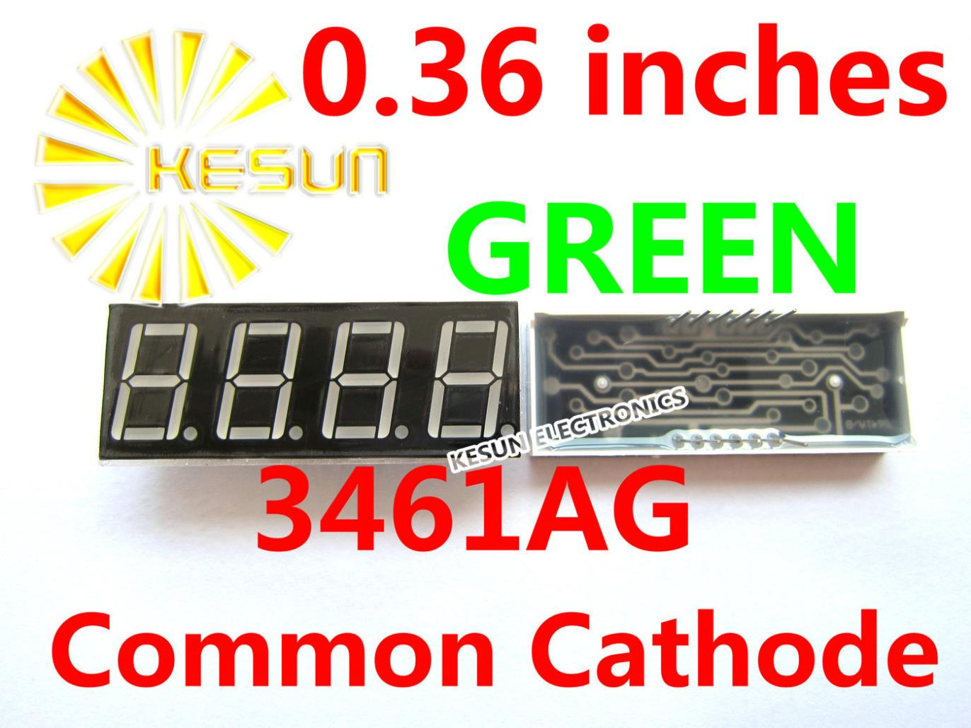 5PCS x 0.36 inches Green Red Common Cathode/Anode 4 Digital Tube 3461AG 3461BG 3461AS 3461BS LED Display Module