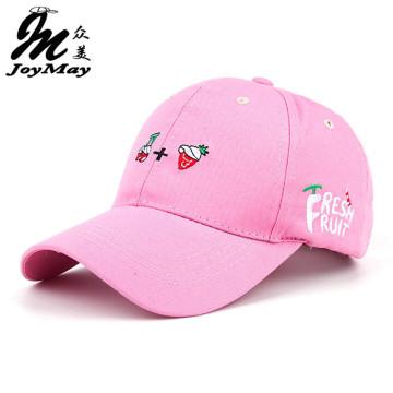 2016 New Arrival Spring Leisure Fresh Fruit Embroidery Hat Strawberry Banana Cherry Orange Peach Baseball Cap For Women B291