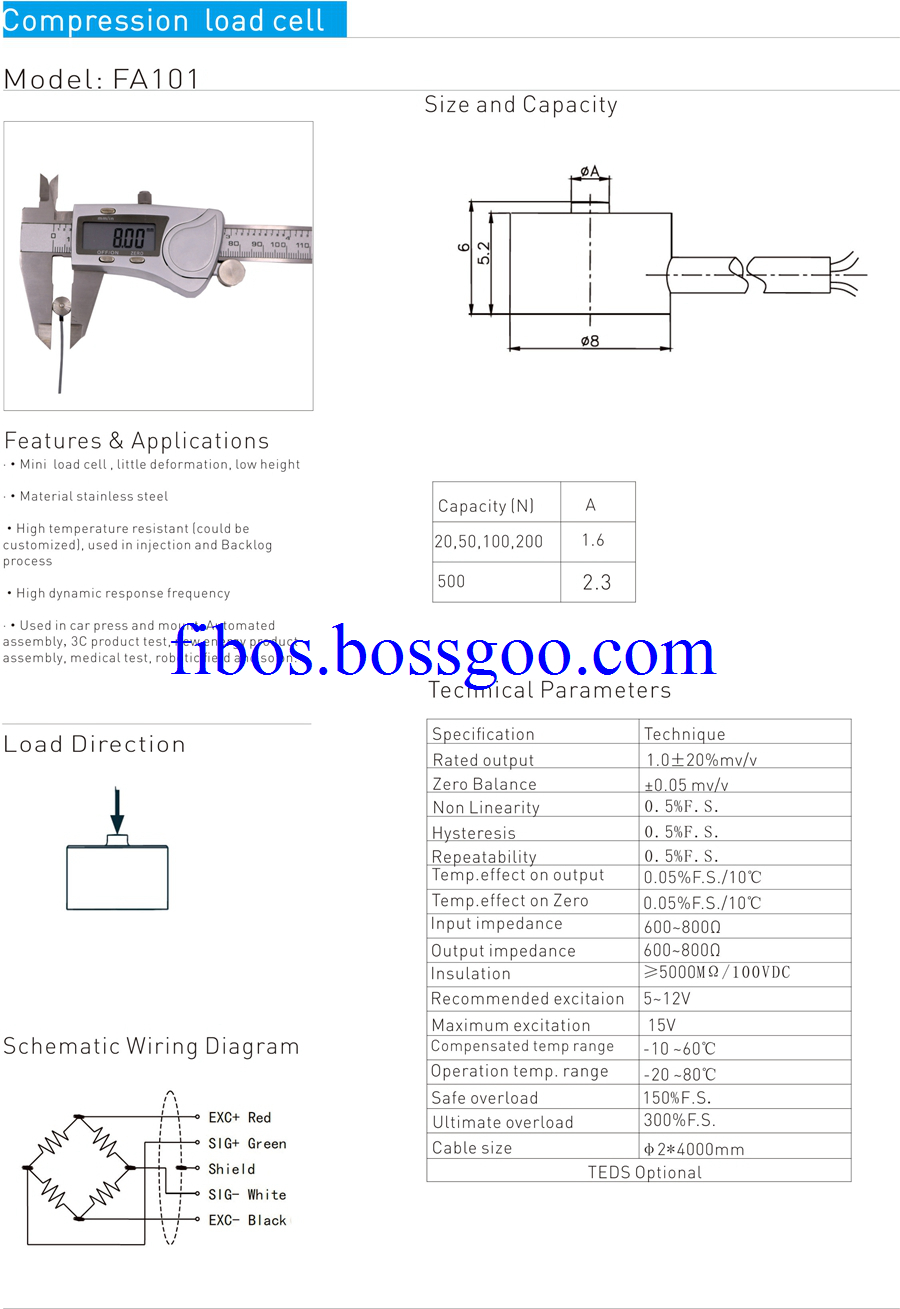 compression load cell 101c